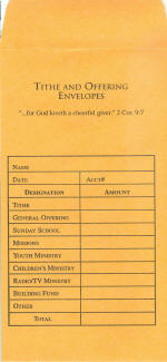 081407002774 Tithe & Offering Envelope